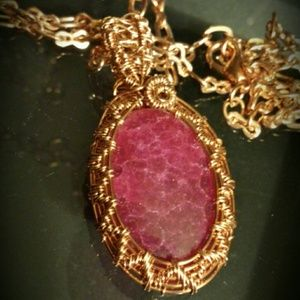 Ruby Stone Woven in Copper